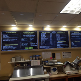 Digital Bakery Menu Board