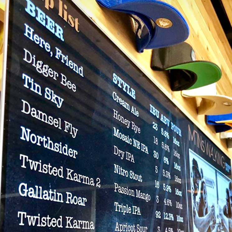 digital signage for tasting rooms